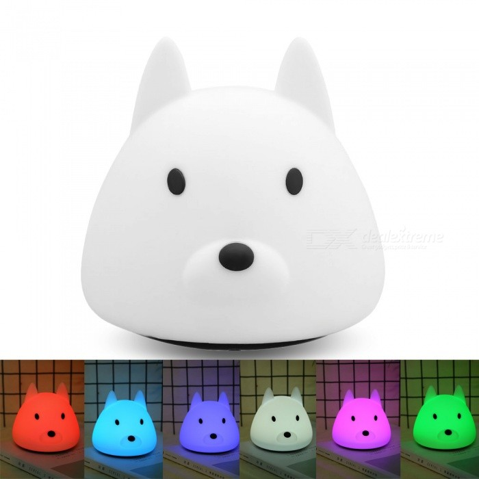 YouOKLight USB Rechargeable 3-Mode Colorful Silicone Animal LED Night Light w/ Touch Sensor for Baby Children GiftLED Nightlights<br>ColorWhiteModelYK2305MaterialABS, SiliconeQuantity1 piecePowerOthers,0.35WRated VoltageOthers,DC 5 VColor BINMulti-colorEmitter TypeLEDTotal Emitters6Color Temperature12000K,OthersDimmableYesBeam Angle360 °Installation TypeOthersPacking List1 x LED Night Lamp<br>