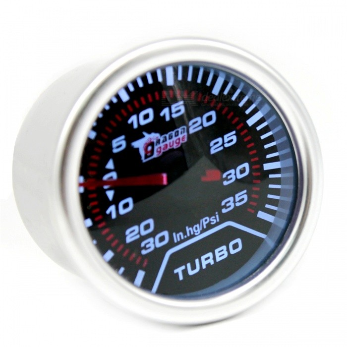 IZTOSS-B3067-12V-Modified-Automobile-Instrument-Car-Boost-Gauge-PSI-with-White-Light-Silver