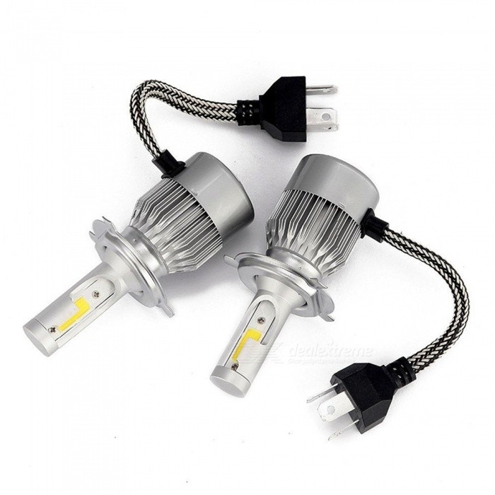 Sencart H4 Cold White Light Headlight w/ Slient Fan Heat Dissipation (DC12V / 2 PCS)
