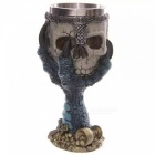 ZHAOYAO-Creative-Dragon-Claw-Holding-Skull-Style-200ml-3D-Stainless-Steel-Beer-Cups-Goblets-Blue-(2-PCS)