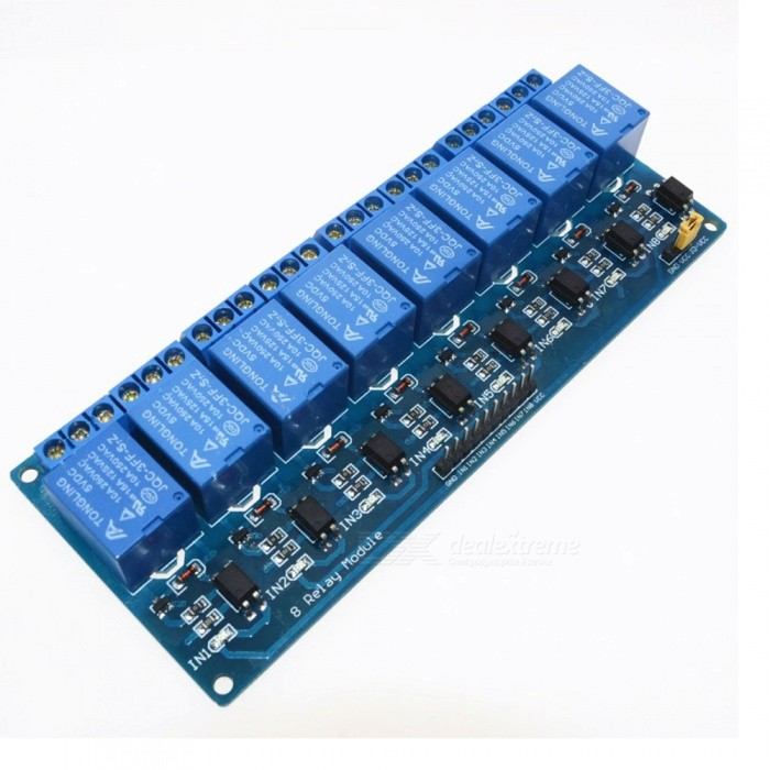 ZHAOYAO DC 5V 8 Channel Relay Board Module with Optocoupler for Arduino Smart Home Switch