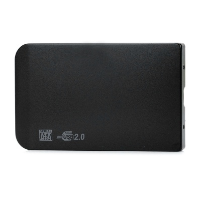 "2.5"" SATA USB 2.0 HDD Enclosure with Leather Pouch - Black"