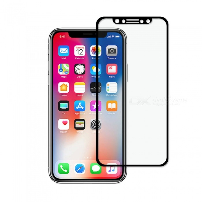 Dayspirit Tempered Glass Screen Protector for IPHONE X - Black