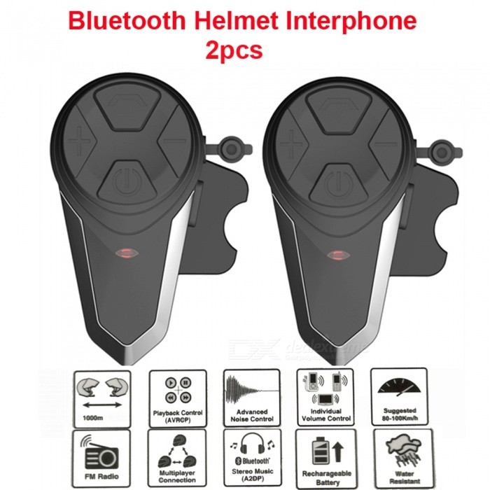 BT-S3-Motorcycle-Helmet-Headset-Intercom-Wireless-Bluetooth-Handsfree-Interphone-(2-PCS)