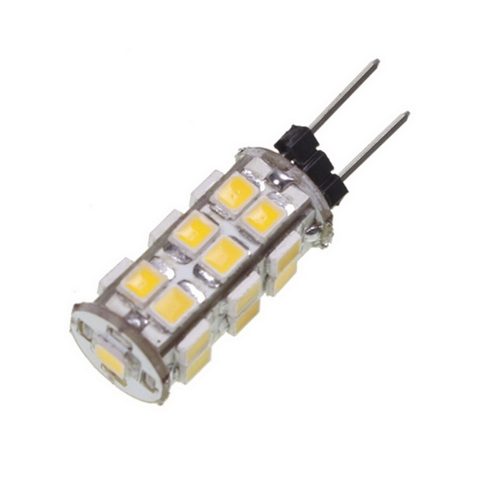 Buy G4 1.2W 110lm 3500K Warm White Light 25*SMD LED Car Bulb (DC 12V) with Litecoins with Free Shipping on Gipsybee.com