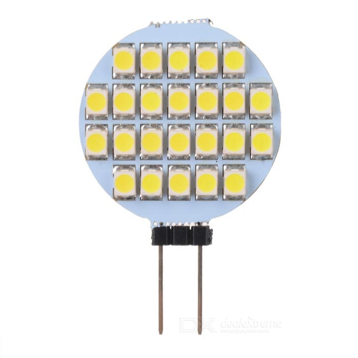 Buy G4 1.2W 108-Lumen 6500K 24-SMD LED Car White Light Bulb (DC 12V) with Litecoins with Free Shipping on Gipsybee.com