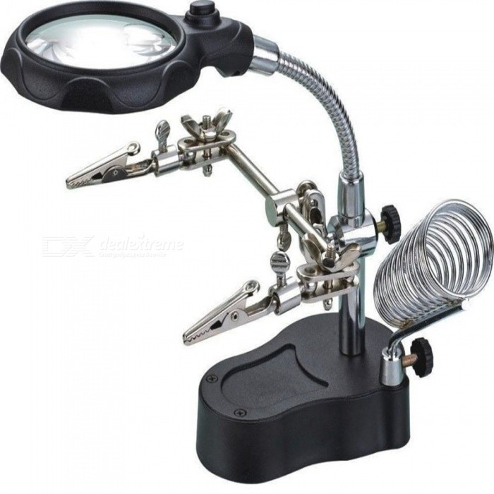 Kelima-Multi-function-Magnifier-with-2-LED-Precision-Electronic-Soldering-Welding-Station