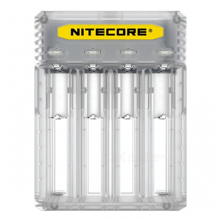 Buy Nitecore Q4 Series Cute 2A Quick Charger for IMR / Li-ion Battery - White (US Plug) with Litecoins with Free Shipping on Gipsybee.com