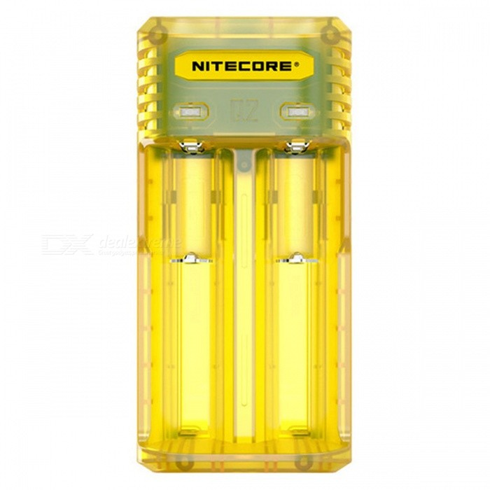 Nitecore Q2 Li-ion and IMR Battery Charger - Yellow (US Plug)