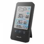 Baldr-Digital-Weather-Station-Wireless-Sensor-Hygrometer-Alarm-Wall-Clock-Temperature-Forecast-Moon-Phase-Thermometer-Black