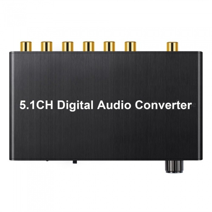 5.1 Channel Digital Audio Decoder Converter, Coaxial Spdif to RCA DTS AC3 Analog Digital Amplifier for PS3, DVD Player