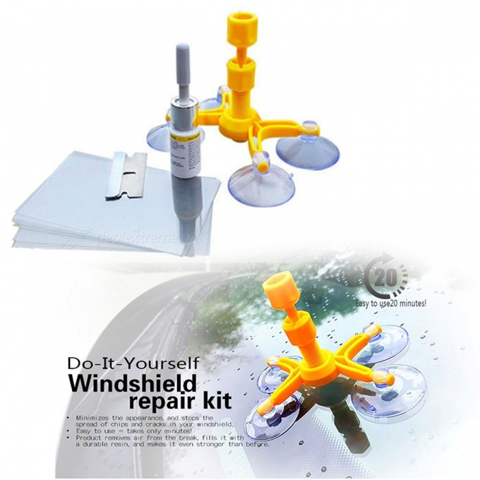 Windshield Repair Kits DIY Car Window Repair Tools Glass Scratch Windscreen Crack Restore Window Screen Polishing