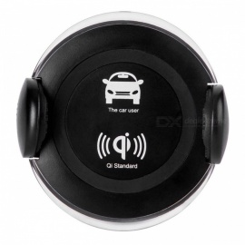 360-Degree-Rotatable-Car-Mounted-Wireless-Charger-with-Phone-Holder-Function-for-IPHONE-X-8-8-Plus-Black
