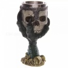 ZHAOYAO-Creative-Dragon-Claw-Holding-Skull-Style-200ml-3D-Stainless-Steel-Beer-Cups-Goblets-Green-(2-PCS)