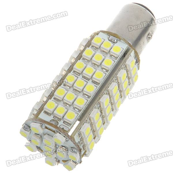 1157 5W 102-SMD LED 6500K 450-Lumen White Light Bulb for Car (Pair/DC 12V)