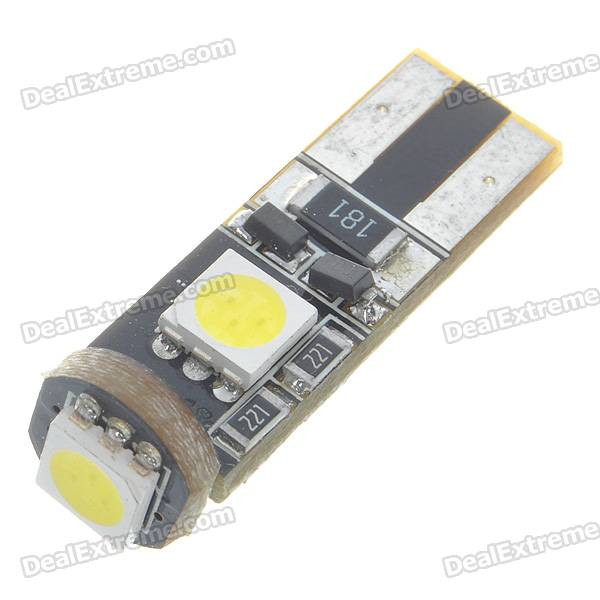 T10 0.8W 3-SMD LED 6500K 42-Lumen White Light Bulb for BMW (Pair/DC 12V)