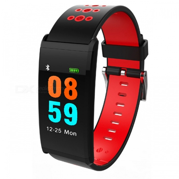 X20 Color Screen Bluetooth Smart Bracelet with Heart Rate, Blood Pressure, Blood Oxygen Monitoring, IP68 Waterproof - Red
