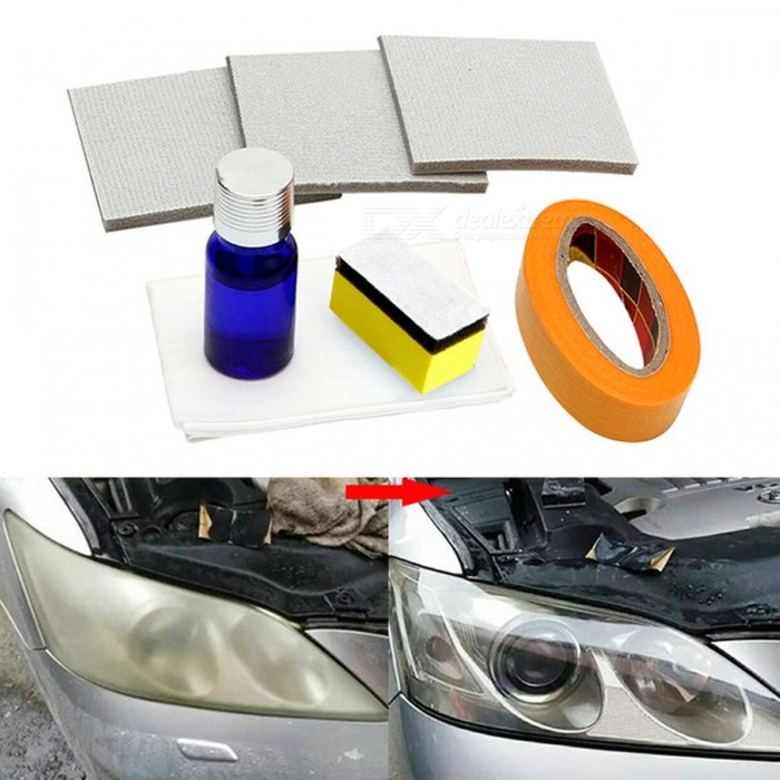 Buy Car Headlamp Polishing Anti-scratch DIY For Car Head Lamp Lense Increase Visibility Headlight Restorstion Kit Restores Clarity with Litecoins with Free Shipping on Gipsybee.com