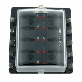 10-Way-Blade-Fuse-Box-LED-Indicator-for-Blown-Fuse-Protection-Cover-100-Amps-Fuse-Block-for-Automotive