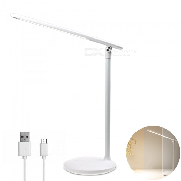 YouOKLight 4W LED Touch Control Stepless Dimming 3-Mode Rotating USB Table Desk Lamp for Home Bedroom Bedside