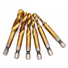 ZHAOYAO-6PCS-High-speed-Steel-Multifunctional-Composite-Screw-Hole-Chamfer-Tapping-Machine-Power-Tools