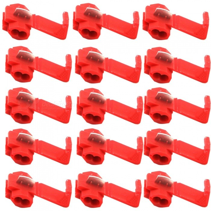 IZTOSS PJ-3105-Z Free-Break Line Connector Terminals - Red (50 PCS) for sale in Bitcoin, Litecoin, Ethereum, Bitcoin Cash with the best price and Free Shipping on Gipsybee.com