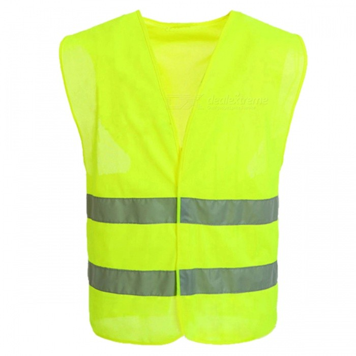 Outdoor Motorcycle Motorbike Cycling Working High Visibility Safety Reflective Polyester Vest - Green