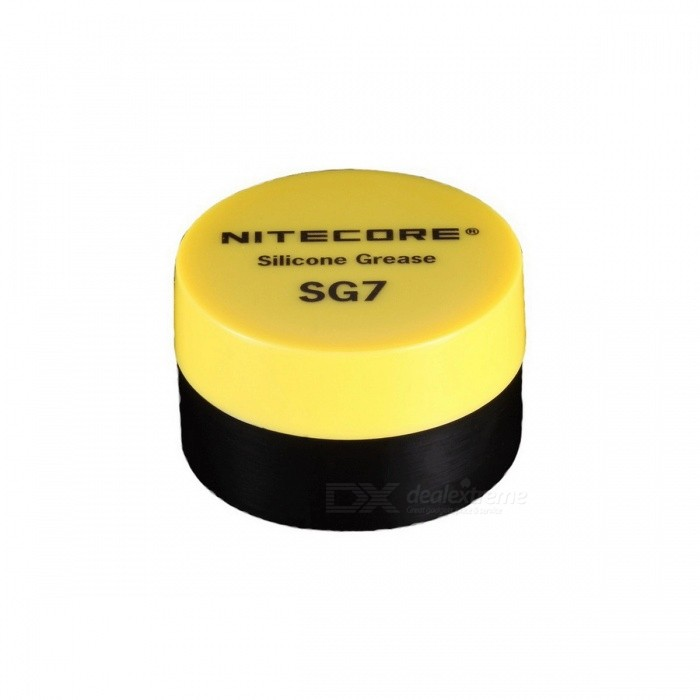 NiteCore SG7 Silicone Grease for Flashlight - Yellow (10g) for sale in Bitcoin, Litecoin, Ethereum, Bitcoin Cash with the best price and Free Shipping on Gipsybee.com