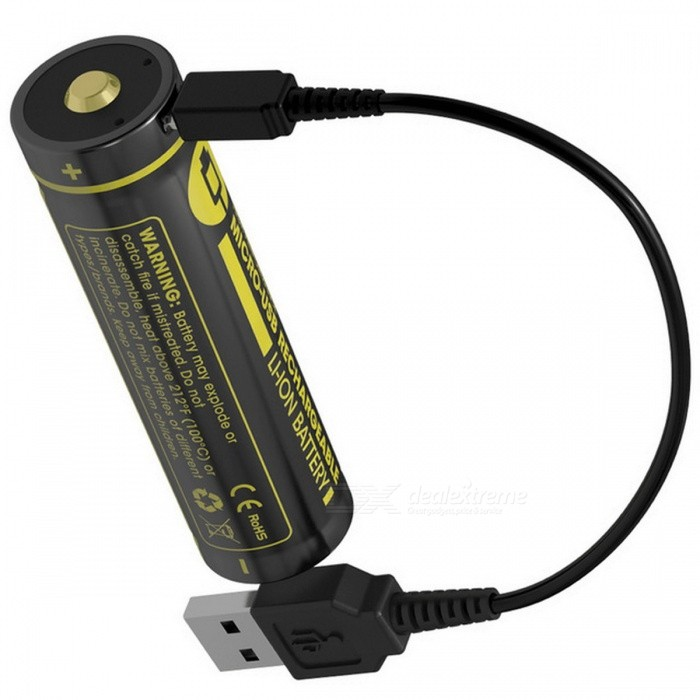 Nitecore-NL1826R-18650-2600mAh-36V-126Wh-Micro-USB-Rechargeable-Li-on-Battery-High-Quality-with-Protection