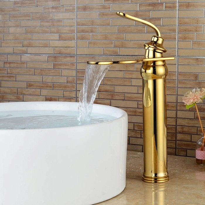 F-0787G-Contemporary-Brass-Waterfall-Ti-PVD-Ceramic-Valve-Single-Handle-One-Hole-Bathroom-Sink-Faucet