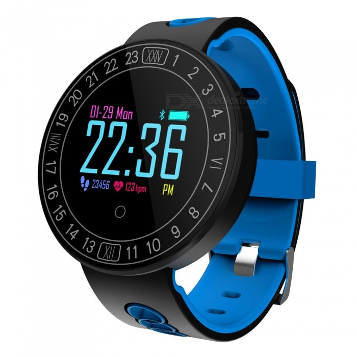 Q8 Plus Color Touch Screen Smart Watch Bracelet with Heart Rate / Blood Pressure Monitor, Pedometer