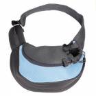 Small-Animal-Puppy-Dog-Cat-Pet-Carrier-Sling-Front-Mesh-Travel-Tote-Shoulder-Bag-Backpack-w-Pet-Silicone-Bowl-Blue-(S)