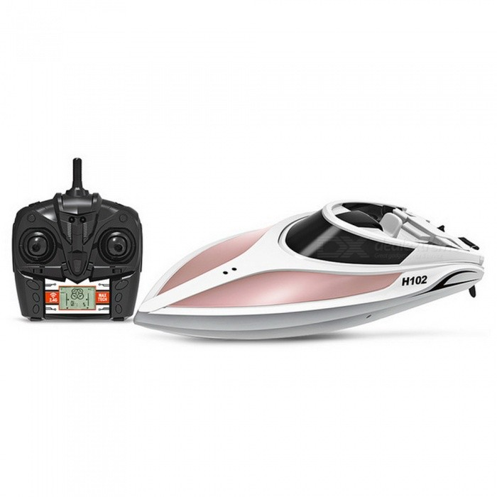 TKKJ H102 Catamaran RC Radio Remote Control Racing Boat 2.4GHz 4CH High Speed RC boat for fishing ship bait boat with LCD