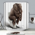 High-Quality-Cartoon-Printed-Elephant-Polyester-Waterproof-Home-Bathroom-Shower-Curtain