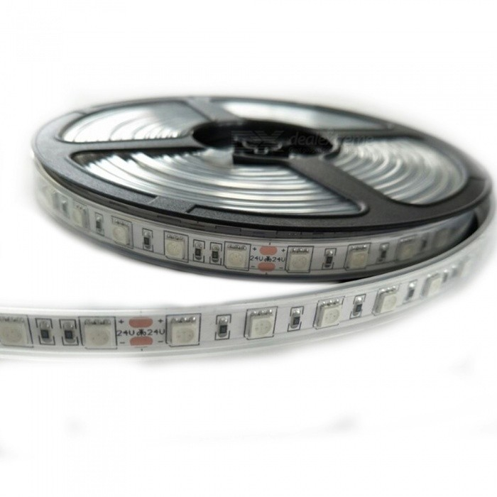 ZHAOYAO-5m-Waterproof-60-5050-SMD-LED-Red-Light-Flexible-Light-Strip-with-Adhesive-Tape-DC-24V