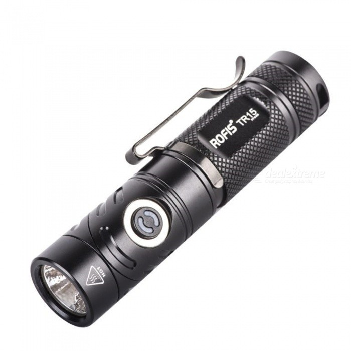 Rofis TR15 Portable Flashlight Headlamp with Multi-angle Rotatation Head Lighting