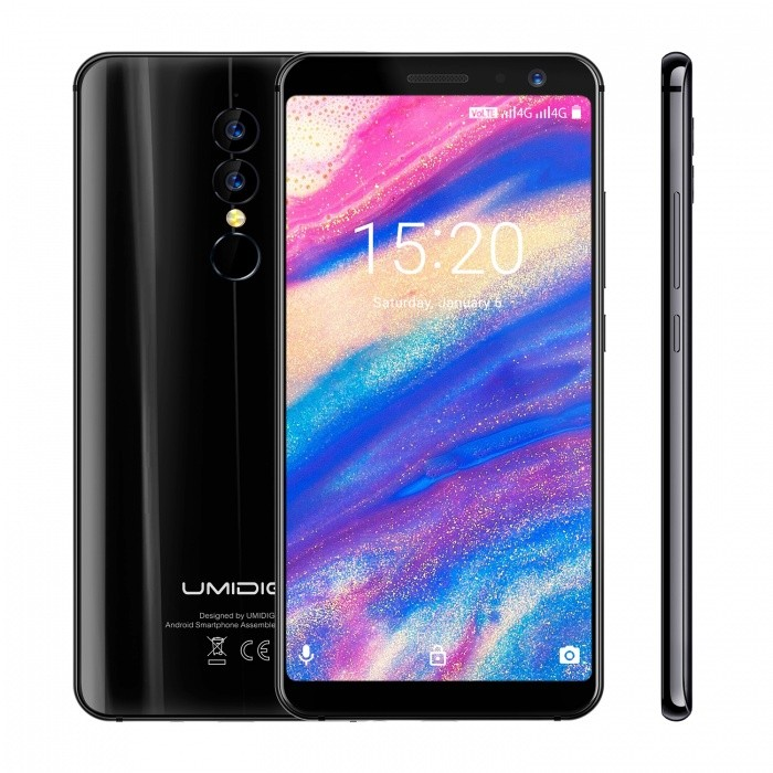 UMIDIGI A1 Pro 18:9  5.5 Inches MTK6739 1.5GHz 4G Smartphone with 3GB RAM, 16GB ROM - Black