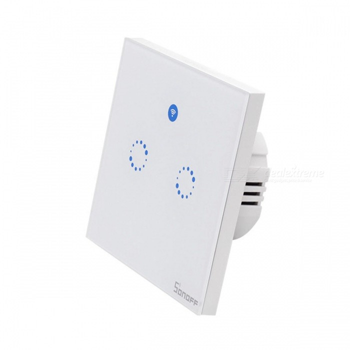 Sonoff T1 EU Smart Wi-Fi Wall Touch Light Switch Touch / WiFi / 433 RF / APP Remote - 2 Gang