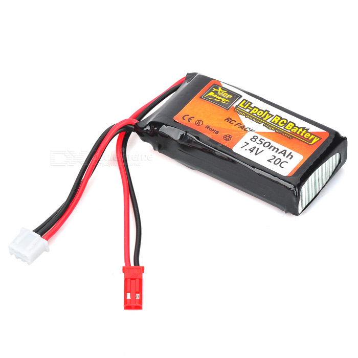 7 4v 850mah 20c replacement li poly battery pack for lama rc