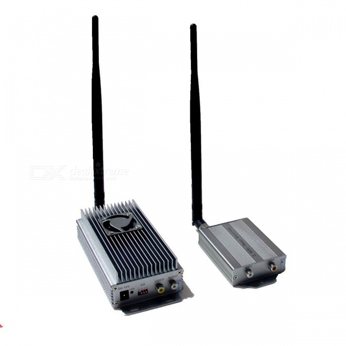 10W 2.4G High Power Wireless Audio and Video Transmitter with Fan - Silver