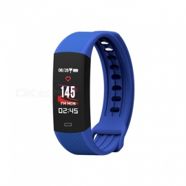 Smart-Bracelet-Wristband-Watch-w-Heart-Rate-Monitor-Sleep-Monitor-for-Android-and-IOS-Blue