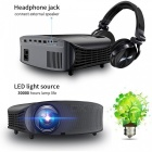 YG600 Full HD 1080P Multimedia LED 3D TV HD Video Projector for Home - Black (US Plug)