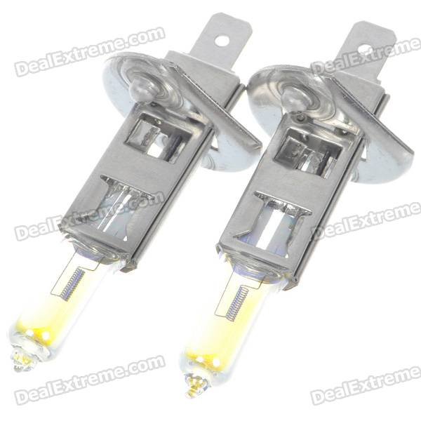 H1 55W 3000K Super Bright Car Yellow Light Bulbs (Pair/DC 12V)