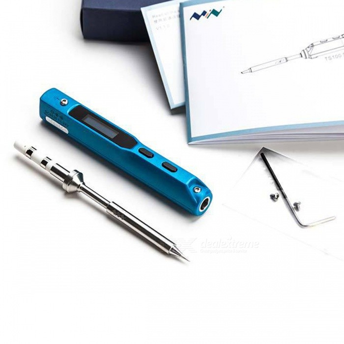TS100-Intelligent-Programmable-Soldering-Iron-with-TS-I-Tips-for-Precision-Component-Maintenance