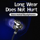 QKZ KD3 Super Bass Stereo Hands-free In-Ear Earphone, Metal Headset for IPHONE Xiaomi - Silver