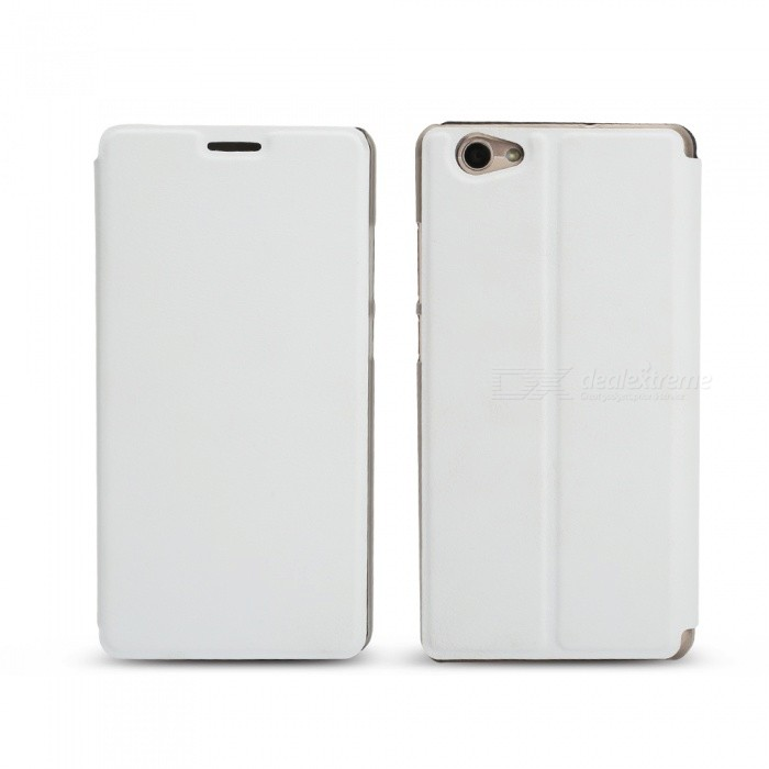 OCUBE Protective Flip-open PU Leather Case for Vernee Thor Plus 5.5 Inches - White