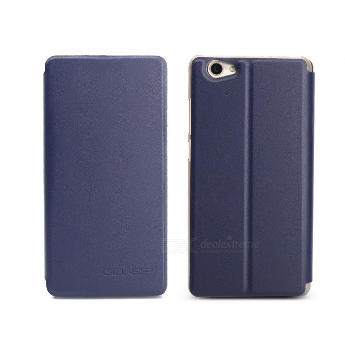 OCUBE Protective Flip-open PU Leather Case for Vernee Thor Plus 5.5 Inches - Blue