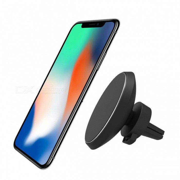 Measy Magnetic QI Wireless Car Charger Mount for IPHONE X/8/8 Plus, Samsung Galaxy S8/S8 Plus/S7/S7 edge/S6 edge Plus, Note 8/5