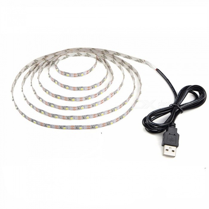 1m DIY DC 5V 3528 SMD USB LED Strip Light, Ribbon String Tape for TV Background Lighting Decoration