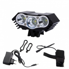 ZHAOYAO-IPX6-Waterproof-XM-L-T6-3-LED-Mountain-Bike-Headlight-with-DC-Interface